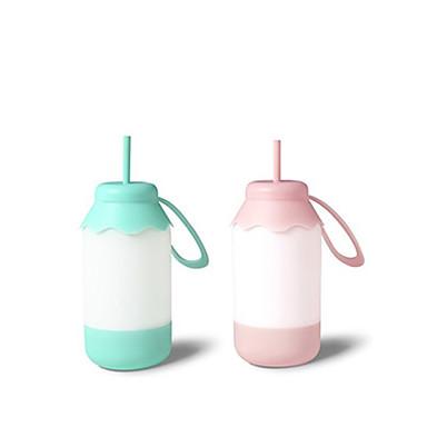 1szt przenośne niebieski / różowy kolor dziecka sypialnia usb butelki mleka pobierana noc płytkiego snu doprowadziły table lamp żarówki
