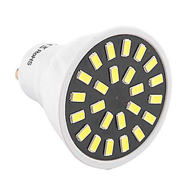1kpl 3W 400-500 lm GU10 LED-kohdevalaisimet MR16 24 ledit SMD 5733 Koristeltu Lämmin valkoinen Kylmä valkoinen 2800-3200/6000-6500 K AC