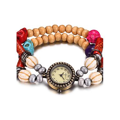 REBIRTH Damskie Zegarek na nadgarstek Zegarek na bransoletce Modny Kwarcowy Wodoszczelny Drewno Pasmo Na co dzień Czerwony Brązowy