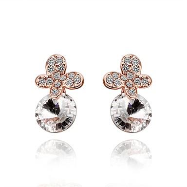 Κρυστάλλινο Cubic Zirconia Κουμπωτά Σκουλαρίκια Κοσμήματα Γυναικεία Καθημερινά Causal Κρύσταλλο Κράμα Ζιρκονίτης 1 ζευγάριΧρυσό