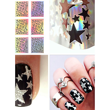 1 pcs Muoti Diecut Manicure Stencil Päivittäin