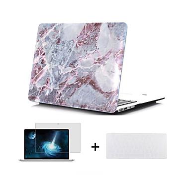 키보드 커버 맥북에 대한 화면 보호기 대리석 디자인 하드 전신 경우 13