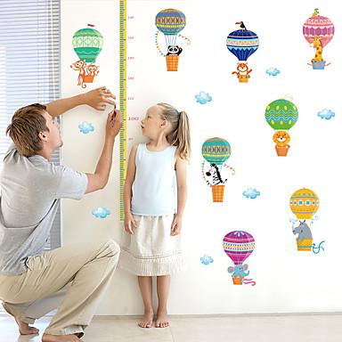 Hayvanlar Moda Karton Duvar Etiketler Uçak Duvar Çıkartmaları Dekoratif Duvar Çıkartmaları Yükseklik (Boy Ölçme) Çıkartmaları, Kağıt Ev
