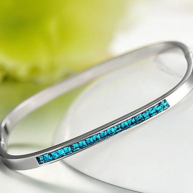 Brățări Bangle Cristal Personalizat Natură Modă Plastic Cristal Austriac Square Shape Geometric Shape Bijuterii Bijuterii Pentru