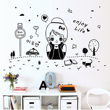 Moda İnsanlar Soyut Duvar Etiketler Uçak Duvar Çıkartmaları Dekoratif Duvar Çıkartmaları,Kağıt Malzeme Ev dekorasyonu Duvar Çıkartması