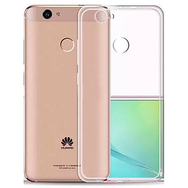 Için Kılıflar Kapaklar Ultra İnce Şeffaf Arka Kılıf Pouzdro Solid Renkli Yumuşak TPU için Huawei Huawei Nova