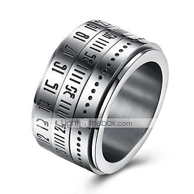 Heren Ring Sieraden Cirkelvormig ontwerp Roestvast staal Rond Kostuum juwelen Dagelijks Causaal