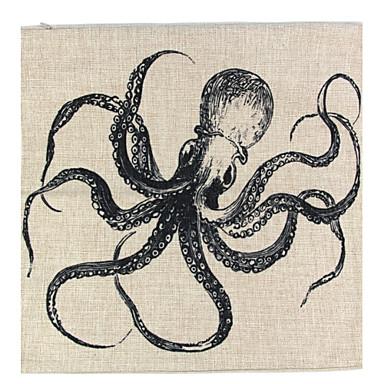 1 adet Linen Yastık Kılıfı, Çiçekli Hayvan Desenli Grafik Baskılar Natürmort Dokulu Retro