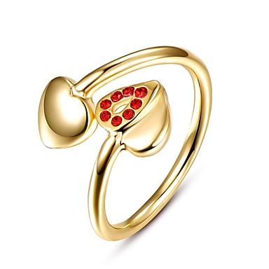 Κρίκοι Cubic Zirconia Καθημερινά Causal Κοσμήματα Κράμα Ζιρκονίτης Επιχρυσωμένο Με Επίστρωση Ροζ Χρυσού Γυναικεία Δαχτυλίδι 1pc,8Χρυσό