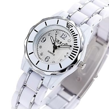 Damskie Modny Zegarek na nadgarstek Kwarcowy Plastic Pasmo Nowoczesne Na co dzień Czarny Biały