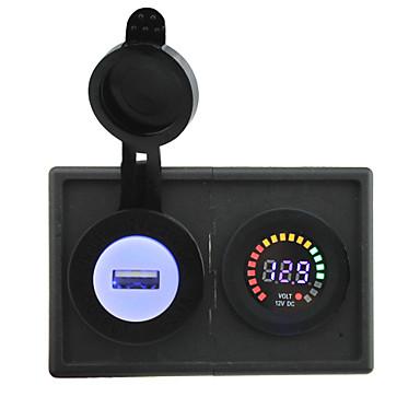 12v a condus display digital voltmetru și 2.1a adaptor USB cu panou suport pentru locuințe pentru camioane cu barca auto rv