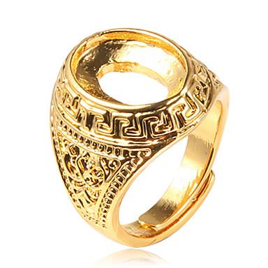 عصابة / حزب يوميا فضفاض مجوهرات سبيكة رجال خاتم 1PC,قابل للتعديل ذهبي
