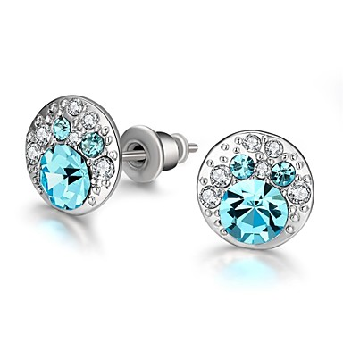 Κουμπωτά Σκουλαρίκια Γυαλί Κράμα Μπλε Κοσμήματα Για Καθημερινά Causal 1 ζευγάρι