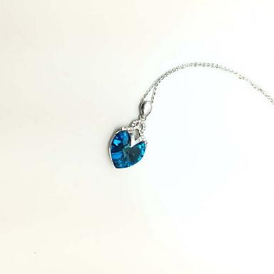 Dame Pandative Cristal Cristal Design Basic Iubire La modă Adorabil Albastru Bijuterii Pentru Zilnic Casual 1 buc
