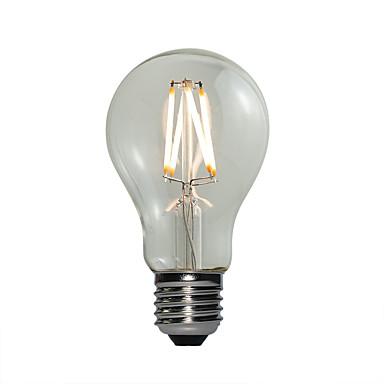 E27 Żarówki LED kulki A60(A19) 4 COB 360 lm Ciepła biel Przysłonięcia AC 220-240 V 1 sztuka
