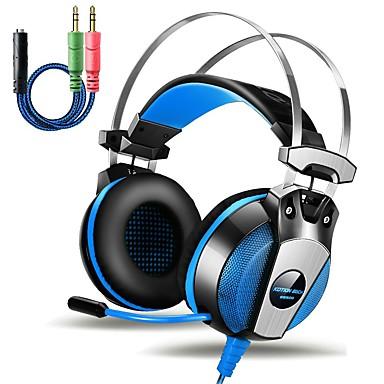 KOTION EACH GS500 Ponad uchem / Opaska na głowę Przewodowy / a Słuchawki Piezoelektryki Plastikowy Rozrywka Słuchawka Z kontrolą
