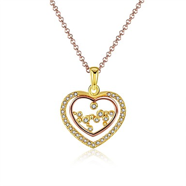 Γυναικεία Καρδιά Εξατομικευόμενο Μοναδικό Κρεμαστό Βίντατζ Love Καρδιά Μοντέρνα Πανκ Λατρευτός Χιπ-Χοπ Euramerican χαριτωμένο στυλ