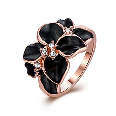 Κρίκοι Καθημερινά Causal Κοσμήματα Κράμα Ζιρκονίτης Με Επίστρωση Ροζ Χρυσού Δαχτυλίδι 1pc,8 Χρυσό Τριανταφυλλί