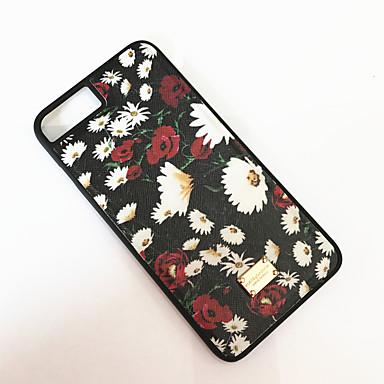 Kılıf Na Apple iPhone 6 iPhone 7 Plus iPhone 7 Odporne na kurz Czarne etui Kwiaty Twarde PC na iPhone 7 Plus iPhone 7 iPhone 6s Plus