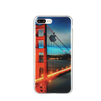 Için Temalı Pouzdro Arka Kılıf Pouzdro Şehir Manzarası Yumuşak TPU için Apple iPhone 7 Plus iPhone 7 iPhone 6s Plus/6 Plus iPhone 6s/6