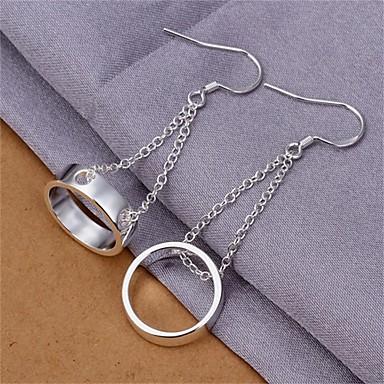 Damskie Kolczyki wiszące Biżuteria Miedź Posrebrzany Biżuteria Codzienny Casual