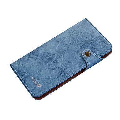 Για Πορτοφόλι Ανοιγόμενη tok Πλήρης κάλυψη tok Μονόχρωμη Σκληρή Συνθετικό δέρμα για Apple iPhone 7 Plus iPhone 7