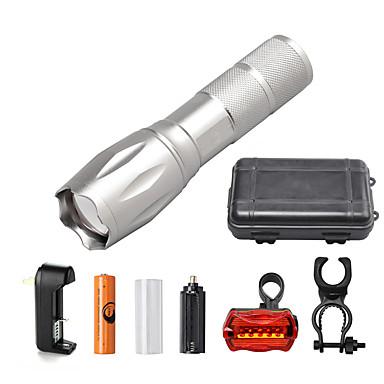 U'King Φακοί LED LED 2000 lm 5 Τρόπος Cree XM-L T6 με μπαταρία και φορτιστή Zoomable Ρυθμιζόμενη Εστίαση Με ροοστάτη Μικρό Μέγεθος