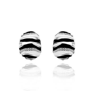 Cubic Zirconia Κουμπωτά Σκουλαρίκια Κοσμήματα Γυναικεία Καθημερινά Causal Κράμα Ζιρκονίτης Επάργυρο 1 ζευγάρι Ασημί