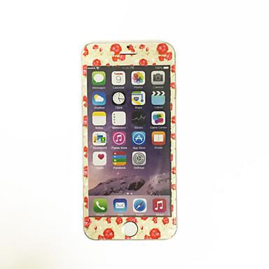 iPhone 6 / 6s 4,7 tuuman karkaistua lasia pehmeällä reunaan peittää koko näytön edessä näytön suoja sarjakuva kukkakuvio