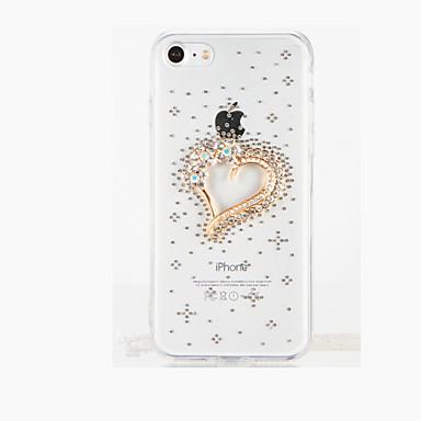 Varten Paljetti DIY Etui Takakuori Etui Sydän Kova PC varten Apple iPhone 7