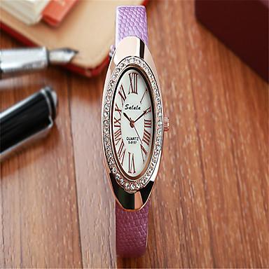 Damskie Modny Sztuczny Diamant Zegarek Kwarcowy Skóra Pasmo Na co dzień Czarny Biały Niebieski Czerwony Szary Różowy PurpurowyGray Purple