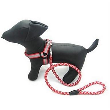 Câine Lese Ajustabile / Retractabil Automat Mată Nailon Negru Rosu Albastru