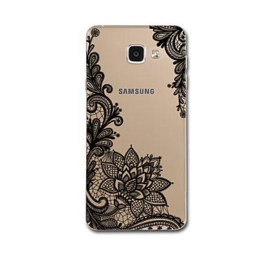 Na Ultra cienkie Wzór Kılıf Etui na tył Kılıf Koronka Miękkie TPU na Samsung A7(2016) A5(2016)