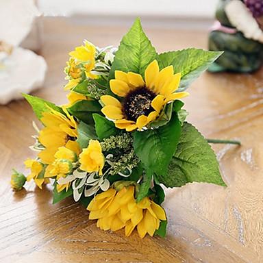 Sztuczne Kwiaty 1 Gałąź Styl nowoczesny Słoneczniki Bukiety na stół