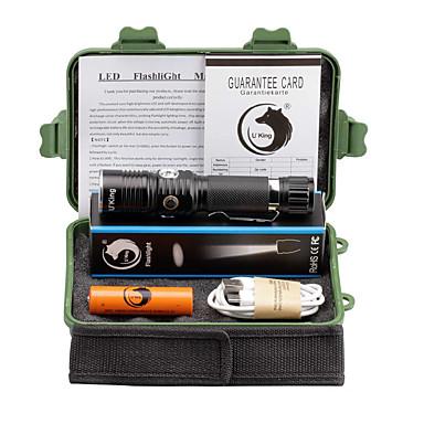 U'King Latarki LED LED 2000 lm 3 Tryb Cree XM-L T6 z baterią Zoomable Regulacja promienia Akumulator Obóz/wycieczka/alpinizm jaskiniowy
