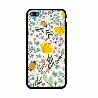 غطاء من أجل Apple نموذج غطاء خلفي زهور قاسي أكريليك(Acrylic) إلى iPhone 7 Plus iPhone 7 iPhone 6s Plus iPhone 6 Plus iPhone 6s iPhone 6