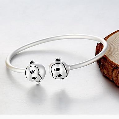 Bransoletki bangle Natura Srebro standardowe Animal Shape Małpka Biżuteria Na