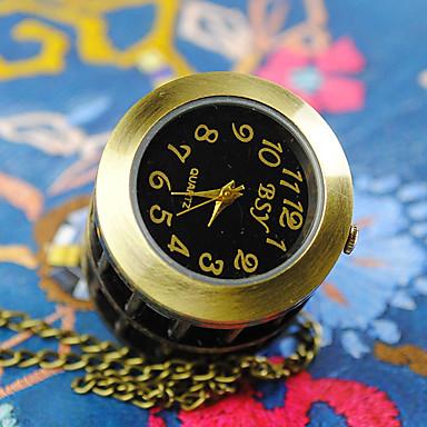 Çiftlerin Cep kol saati Quartz Alaşım Bant Bronz