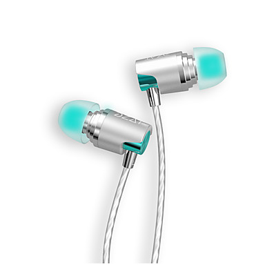 DZAT DR-20 في الاذن سلكي Headphones ديناميكي Aluminum Alloy الهاتف المحمول سماعة مع ميكريفون HIFI سماعة