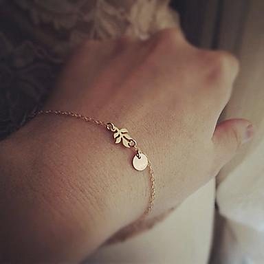 Femme Chaînes & Bracelets - Forme de Feuille Bohème, Basique, Style Simple Bracelet Or / Argent Pour Regalos de Navidad / Mariage / Soirée