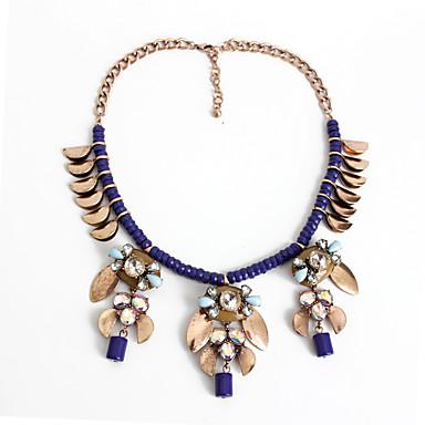 Kadın Gerdanlıklar Açıklama Kolye Mücevher Mücevher alaşım Eşsiz Tasarım Avrupa Çiçekli Moda Kişiselleştirilmiş Euramerican İfade Takıları