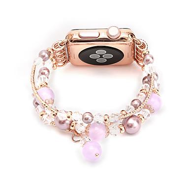 Jade akaatti helmi helmiä hihna käsintehdyt korut apple watch iwatch 38mm 42mm