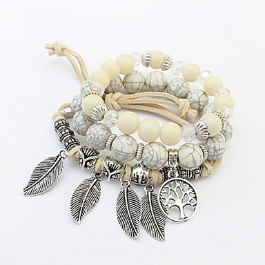Bransoletki Strand Przyjaźń Modny Europejski Akrylowy Szkło Stop Leaf Shape Biżuteria Rocznica Prezent