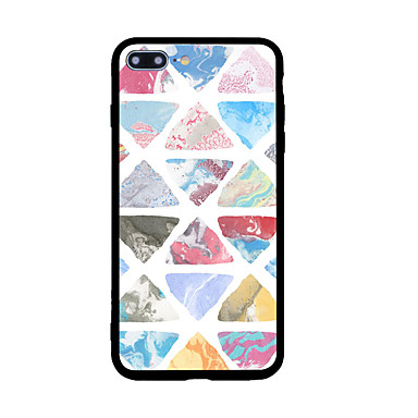 Kılıflar Kapaklar Apple için Arka Kılıf Temalı Geometrik Desenli Sert Akrilik iPhone 7 Plus iPhone 7 iPhone 6s Plus iPhone 6 Plus iPhone