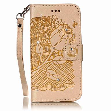Etui Käyttötarkoitus Samsung Galaxy S7 edge S7 Korttikotelo Lomapkko Paljetti Flip Koristeltu Kokonaan peittävä Kukka Kova PU-nahka varten