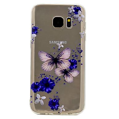 غطاء من أجل Samsung Galaxy S8 Plus S8 شفاف نموذج غطاء خلفي فراشة ناعم TPU إلى S8 Plus S8 S7 edge S7 S6