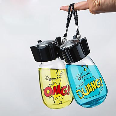 Przezroczyste Szklanki, 400 ml Przenośny Szkło Herbata Odsłonięte Butelki na wodę