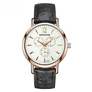 Ceas La Modă Quartz Calendar Piele Bandă Negru Maro