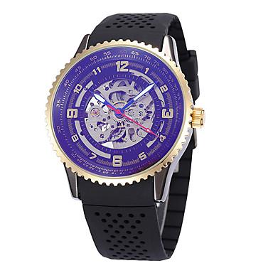 Męskie Sportowy Do sukni/garnituru Szkieletowy Modny Zegarek na nadgarstek zegarek mechaniczny Nakręcanie automatyczne Skóra naturalna