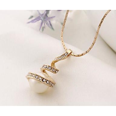 Damskie Zestawy biżuterii Naszyjniki z wisiorkami Kolczyk Biżuteria Wiszący Imitacja pereł Modny euroamerykańskiej Perłowy Stop Biżuteria
